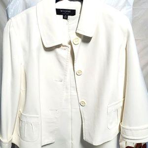 Signature by Larry Levine Cream Dress Suit